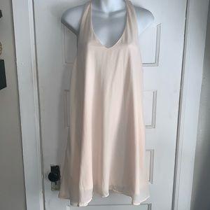 GLAMOROUS PETITE Blush Tank Shift Dress-Size 12
